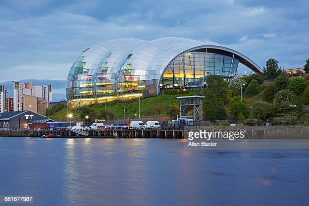 the sage concert hall and river tyne - newcastle upon tyne stock pictures, royalty-free photos & images