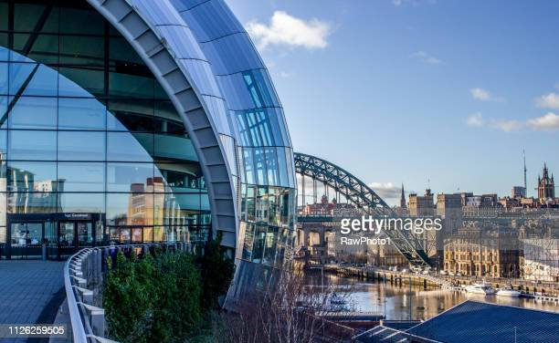 the sage & tyne bridge. - newcastle upon tyne stock pictures, royalty-free photos & images