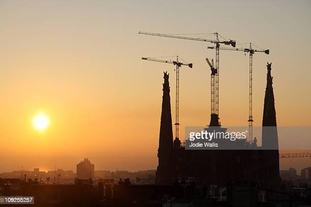 The Sagrada Familia at sunrise