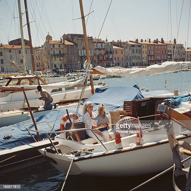 The sailboat 'Mens Sana' in SaintTropez France circa 1970