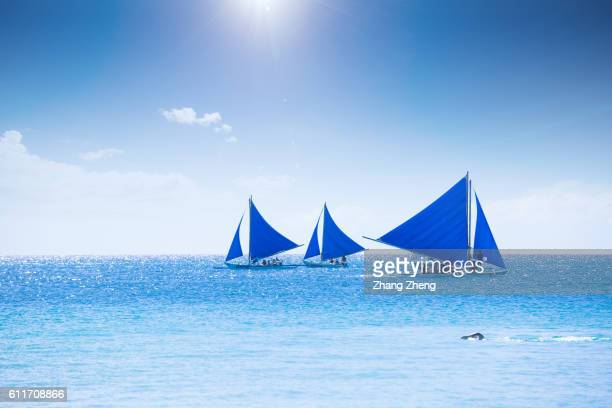 the sailing boat in Boracay