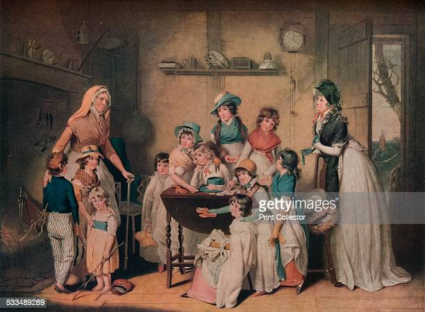 The Sailor's Orphans or The Young Ladies' Subscription 1800 After William Redmore Bigg From The Connoisseur Volume LV [Otto Limited London 1919]