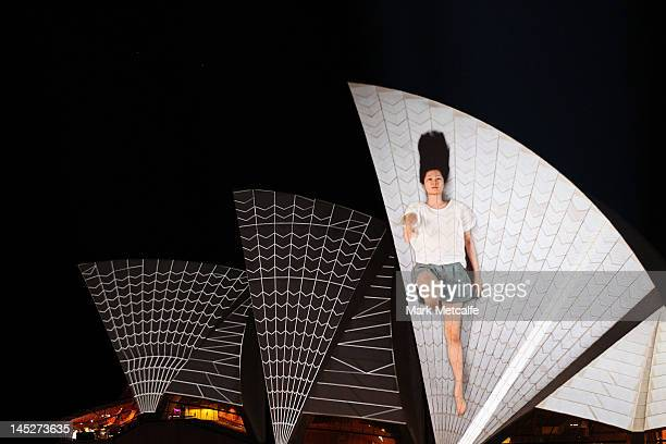 The sails of the Sydney Opera House are illuminated as part of Vivid Sydney on May 25 2012 in Sydney Australia Vivid Sydney is the largest festival...