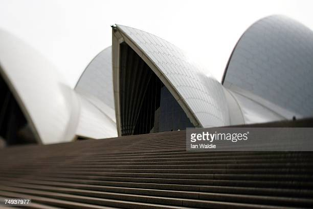 The sails of the Sydney Opera House are set against the sky June 28 2007 in Sydney Australia The Opera House designed by Joern Utzon and officially...