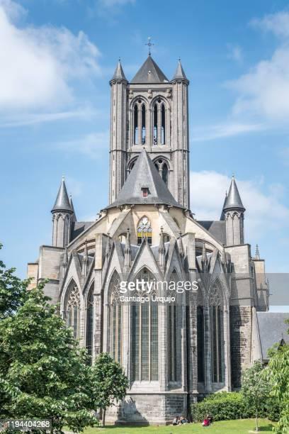 the saint bavo cathedral of ghent - flandres oriental imagens e fotografias de stock