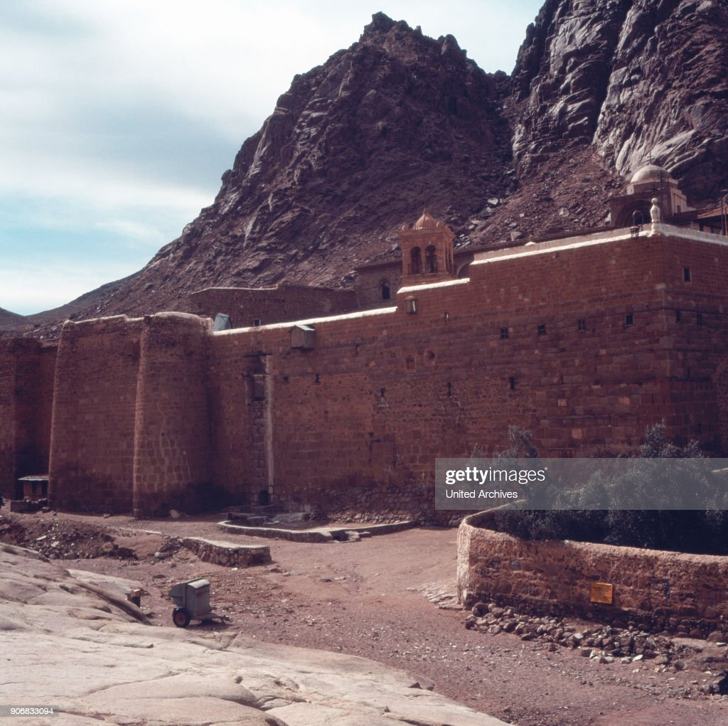The Saint Catherine's Monastery on the Sinai Peninsula, Israel 1970s