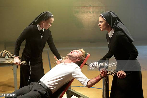 CONSTANTINE The Saint of Last Resorts Part Two Episode 109 Pictured Claire van der Boom as Anne Marie Matt Ryan as Constantine Anjelica Celaya as Zed
