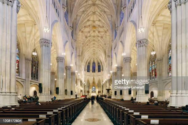the saint patrick cathedral, in new york city - saint patrick stock pictures, royalty-free photos & images