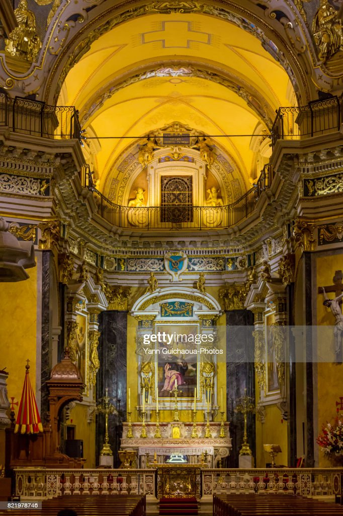 The Saint Reparate cathedral, Nice, Alpes Maritimes, Paca, France : Stock Photo