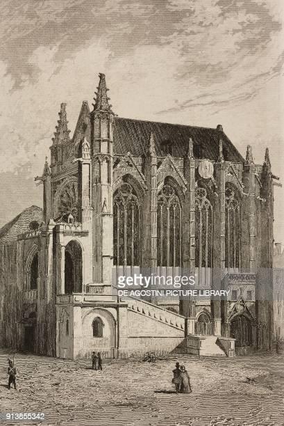 The Sainte Chapelle Paris France engraving by Lemaitre from France deuxieme partie L'Univers pittoresque published by Firmin Didot Freres Paris 1845
