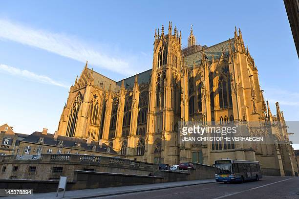 The SaintEtienne cathedral is pictured on february 6 2012 in Metz Moselle eastern France AFP PHOTO / JEANCHRISTOPHE VERHAEGEN