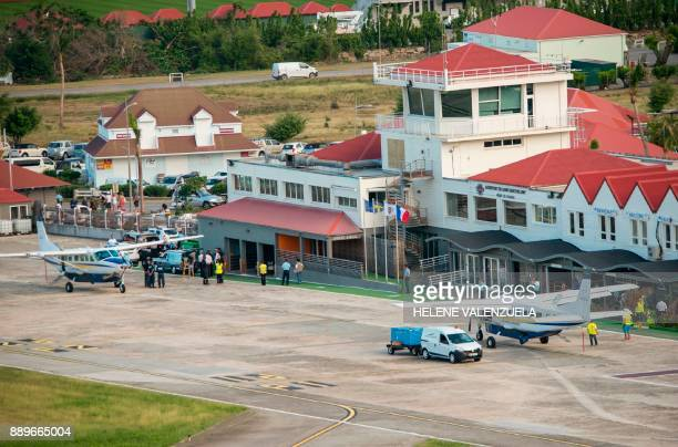 The SaintJeanGustave III airport on the French Caribbean island of SaintBarthelemy is pictured on December 10 after the arrival of the plane carrying...
