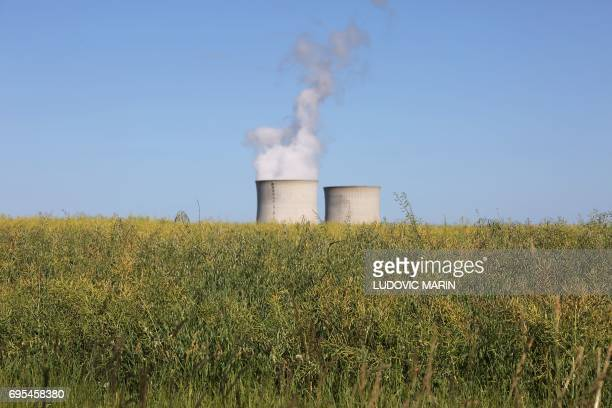 The SaintLaurentdesEaux nuclear power station is pictured on June 12 2017 in SaintLaurentNouan near Orleans / AFP PHOTO / LUDOVIC MARIN