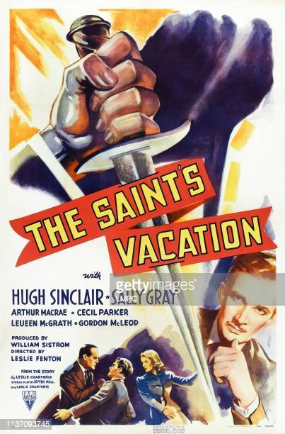 The Saint's Vacation poster US poster from left Cecil Parker Hugh Sinclair Sally Gray Hugh Sinclair 1941