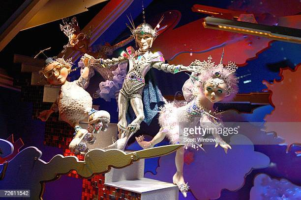 The Saks Fifth Avenue holiday window displays at Saks Fifth Avenue on November 20 2006 in New York City