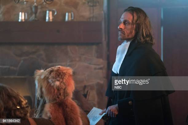 TIMELESS The Salem Witch Hunt Episode 204 Pictured Henri Lubatti as Judge Hathorne