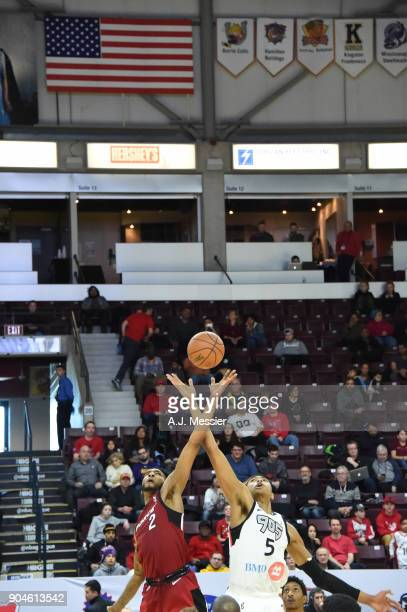 The Salt Lake City Stars and the Fort Wayne Mad Ants tipoff during the NBA G League Showcase Game 23 between the Salt Lake City Stars and the Fort...