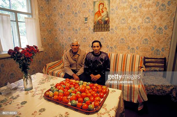 The 'samosols' are those people who returned to live in the villages inside of the exclusion zone seen here on June 1 2006 in Chernobyl Ukraine There...