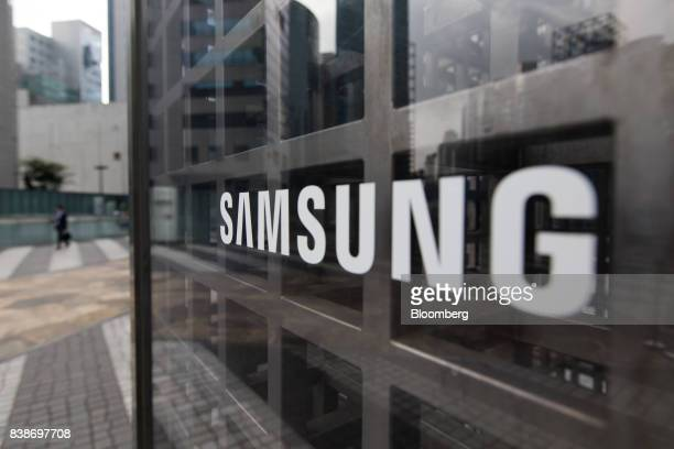 The Samsung Electronics Co logo is displayed at the company's Seocho office building in Seoul South Korea on Friday Aug 25 2017 The stakes are high...