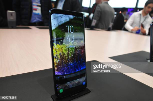The Samsung S9 Mobile phone seen at the Mobile World Congress The Mobile World Congress 2018 is being hosted in Barcelona from 26 February to 1st...