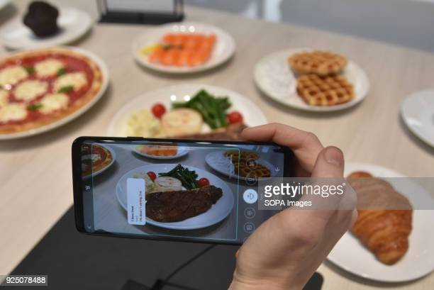 The Samsung S9 smartphone being exhibited at the Samsung stand in the Mobile World Congress The Mobile World Congress 2018 is being hosted in...