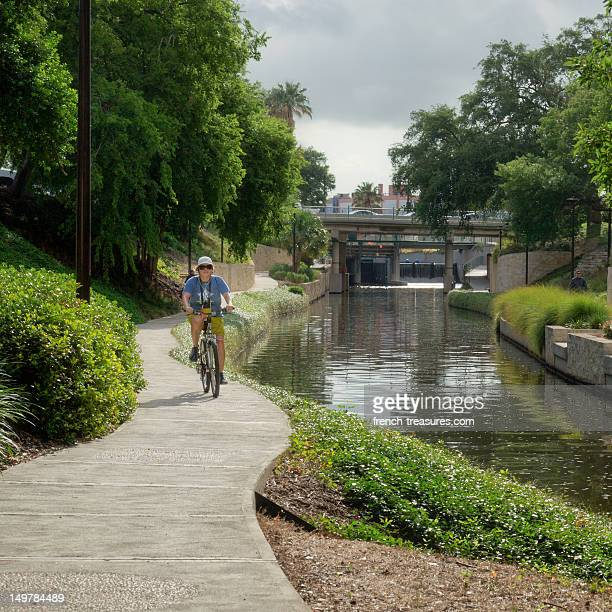 The San Antonio River Walk is a wonderful urban park that wends its way through the city