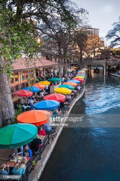 the san antonio riverwalk - san antonio texas stock photos and pictures