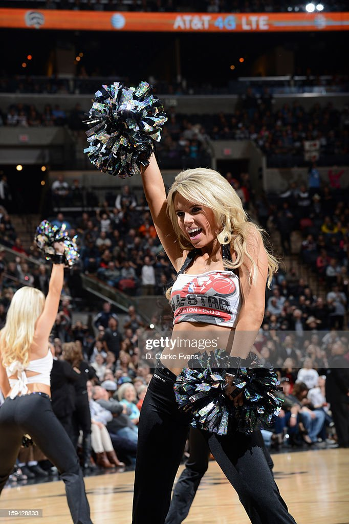 The San Antonio Spurs dance team during the game against the Minnesota Timberwolves on January 13, 2013 at the AT&T Center in San Antonio, Texas.