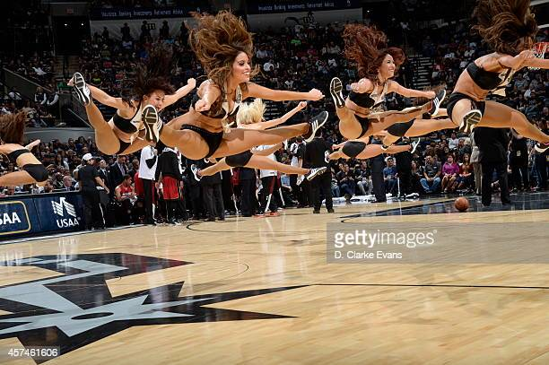 The San Antonio Spurs dance team performs during a game against the Miami Heat at the ATT Center on October 18 2014 in San Antonio Texas NOTE TO USER...