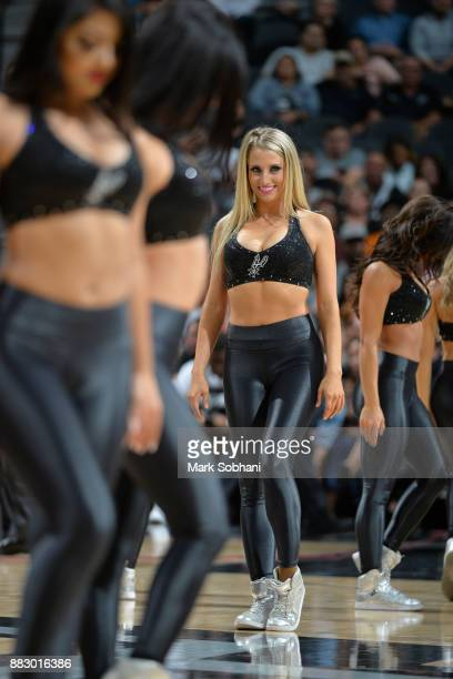 The San Antonio Spurs dance team performs during the game against the Memphis Grizzlies on November 29 2017 at the ATT Center in San Antonio TX NOTE...