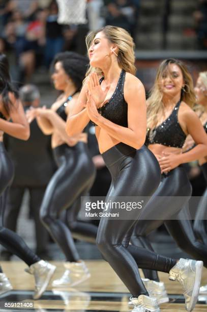 The San Antonio Spurs dance team performs during the preseason game against the Denver Nuggets on October 8 2017 at the ATT Center in San Antonio...