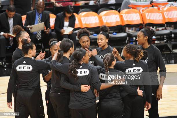 The San Antonio Stars huddle before the game against the Atlanta Dream on August 12 2017 at the ATT Center in San Antonio Texas NOTE TO USER User...