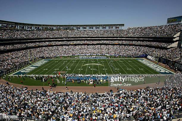 The San Diego Chargers kick off to the Dallas Cowboys on September 11 2005 to open the season at Qualcomm Stadium in San Diego California The Cowboys...