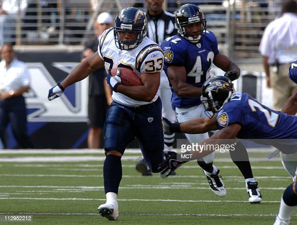 The San Diego Chargers' Michael Turner is shown during a game against the Baltimore Ravens on Sunday October 1 in Baltimore Maryland