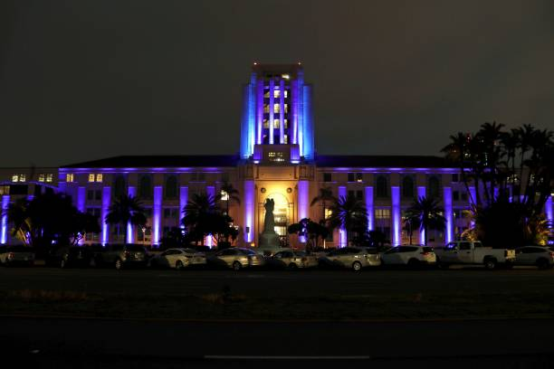 CA: The San Diego County Administration Center Lit Up Blue to Honor Tardive Dyskinesia (TD) Awareness Week