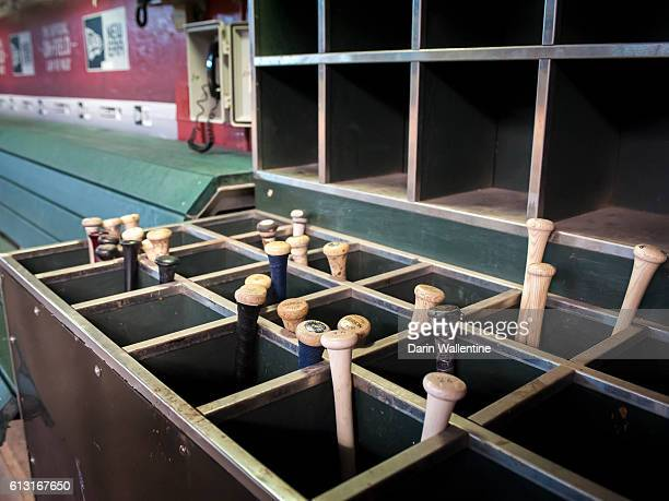 The San Diego Padres bat rack before the MLB game against the Arizona Diamondbacks at Chase Field on October 2 2016 in Phoenix Arizona The Arizona...