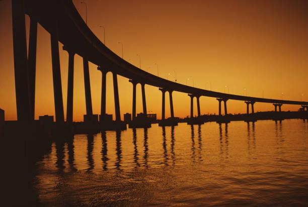 The San Diego–Coronado Bridge across the San Diego...
