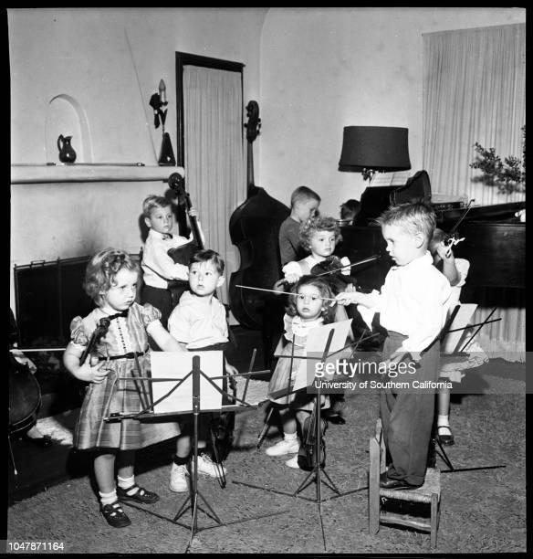 The San Fernando Valley Baby Orchestra, 18 November 1956. Chuck Lempesis;Susan Ranslow;Sally Marsilio;Betsy Ann Goodman;Gregory Heilmen;Steve...