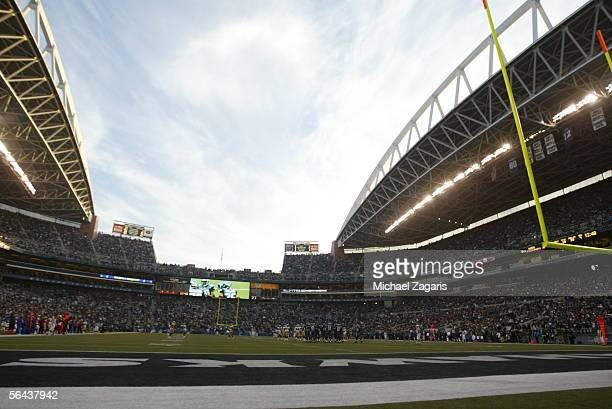 The San Francisco 49ers play against the Seattle Seahawks on December 11 2005 at Qwest Field in Seattle Washington The Seahawks defeated the Niners...