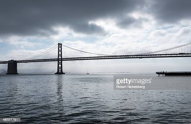 The San FranciscoOakland Bay Bridge is viewed April 12 2014 in San Francisco California The Bay Bridge was completed in 1936 and spans the San...
