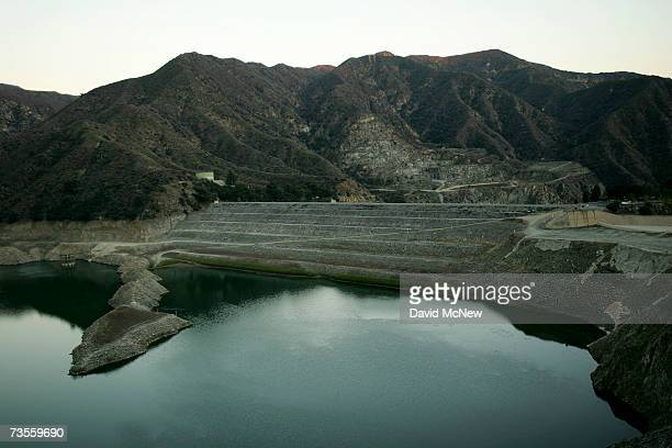 The San Gabriel Reservoir water level remains dramatically low near the end of the rainy season when the waters of the San Gabriel River would...
