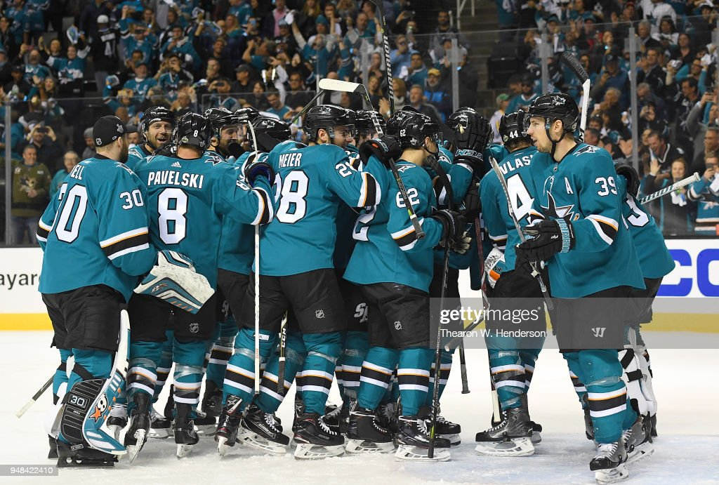 Anaheim Ducks v San Jose Sharks - Game Four : News Photo