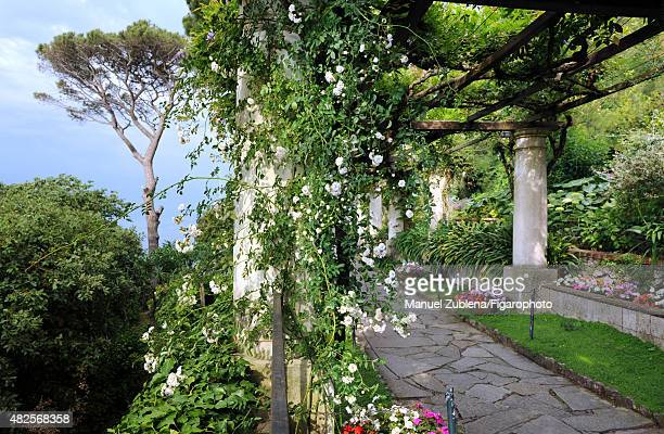 The San Michele Villa is photographed for Madame Figaro on June 8 2015 in Capri Italy The neoclassical villa was built in Capri in the late 19th...