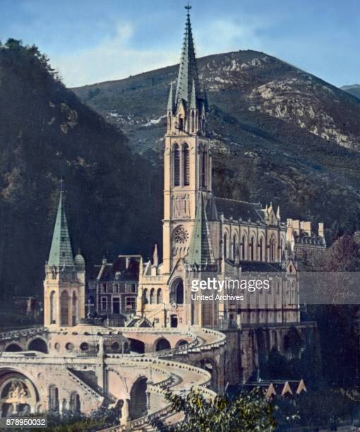 The Sanctuary in the area famous for a Marian apparition town of Lourdes