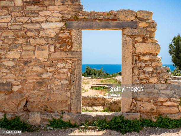 the sanctuary of apollo hylati in kourion - cyprus island stock pictures, royalty-free photos & images