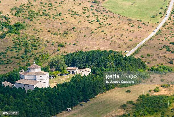 the sanctuary of macereto - jacopo caggiano stock pictures, royalty-free photos & images