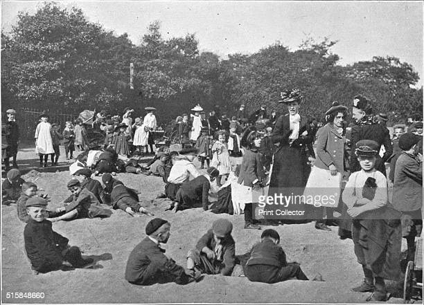 The sandpit Victoria Park London circa 1900 Victoria Park in London's East End opened in 1845 From Living London Vol 1 edited by George R Sims...
