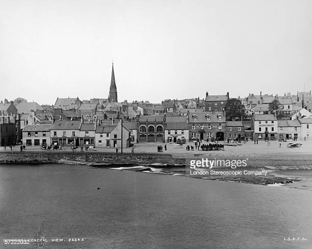 The Sands in Dumfries in the south west of Scotland circa 1900