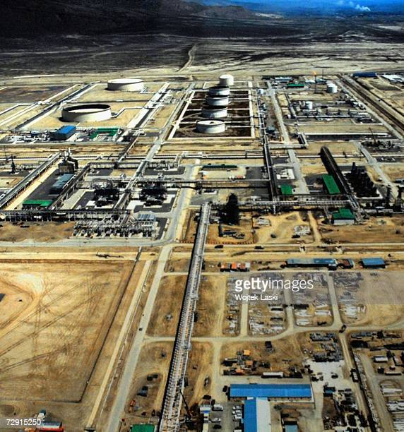 The Sangachal oil and gas Terminal, October 26, 2006 in Baku, Azerbaijan. Oil-rich Azerbaijan gained independence from the Soviet Union in 1991, and...
