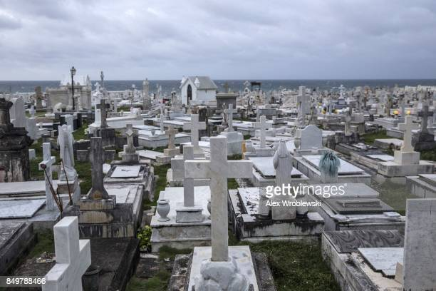 The Santa Mara Magdalena de Pazzis Cemetery as residents prepare for a direct hit from Hurricane Maria on September 19 2017 in San Juan Puerto Rico...